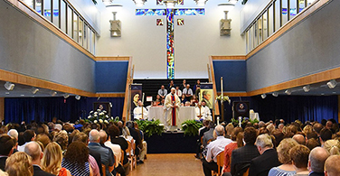 Mass celebrated in the Union Ballroom