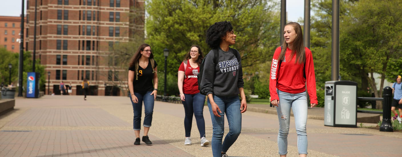 students on Academic Walk